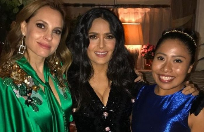 Se reúne Salma Hayek con Yalitza Aparicio y Marina de Tavira