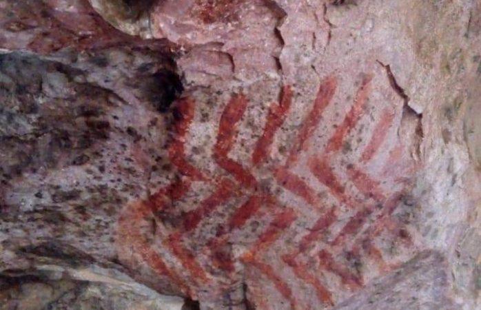 Descubren pinturas rupestres en sierra de nombre de dios