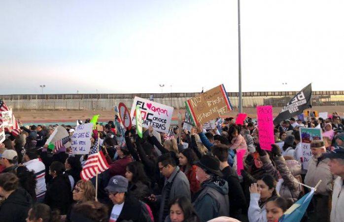 Protestan contra Trump en El Paso y Juárez