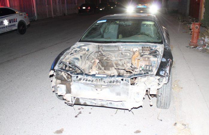 Recuperan auto robado, pero ya sin transmisión, motor, rines...