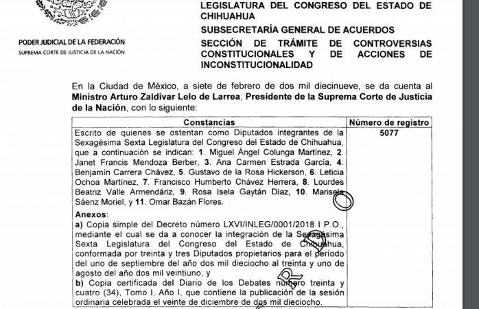 Admite corte acción de inconstitucionalidad vs estado