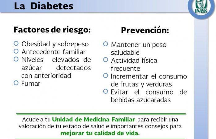 Es necesaria la prevención para evitar la diabetes