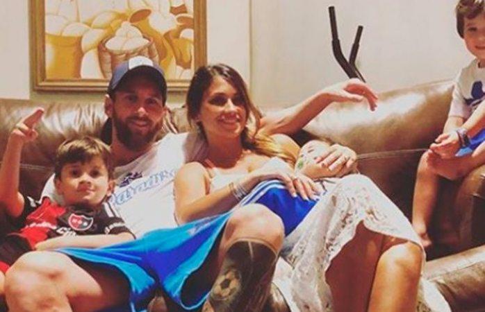 El tierno video que muestra al hijo de Lionel Messi como 'Rockstar'