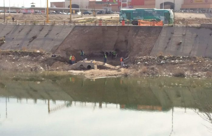 Arranca obras públicas reparación del dique la presa