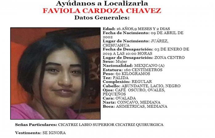 Buscan a jovencita de 16 años que desapareció en el centro de Juárez