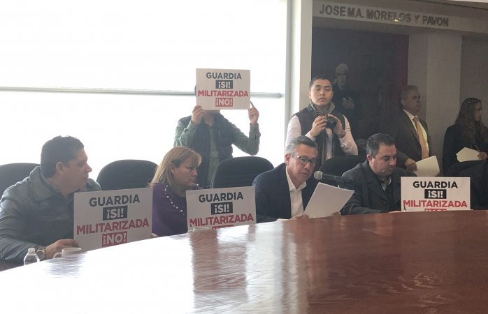 Piden diputados locales que guardia nacional no sea militarizada