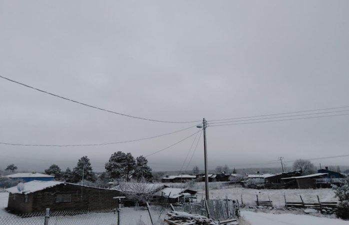 Se registra la primer nevada del 2019 en El Vergel