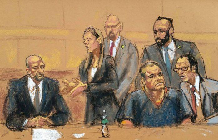 Se va la luz en el juicio contra el Chapo y gritan ¡se ha escapado!