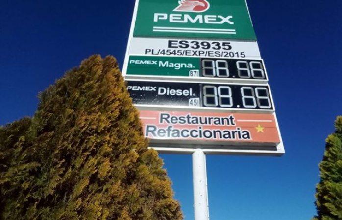 Subidón de precio de gasolina en Coyame