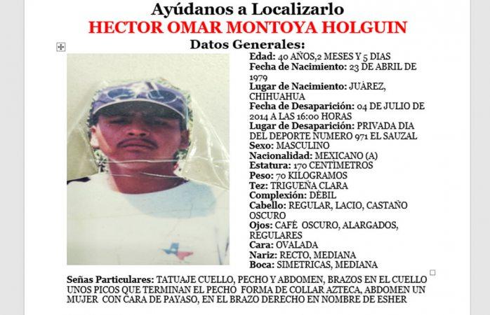 Solicitan apoyo para encontrar a desaparecido