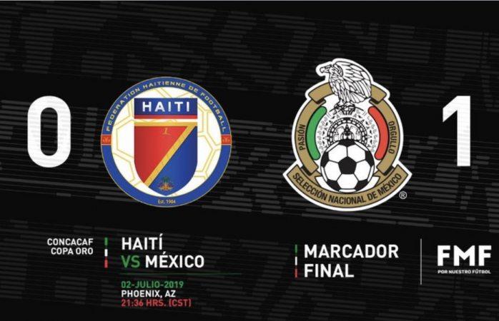México logra el triunfo contra Haití en tiempo extra, va a la final
