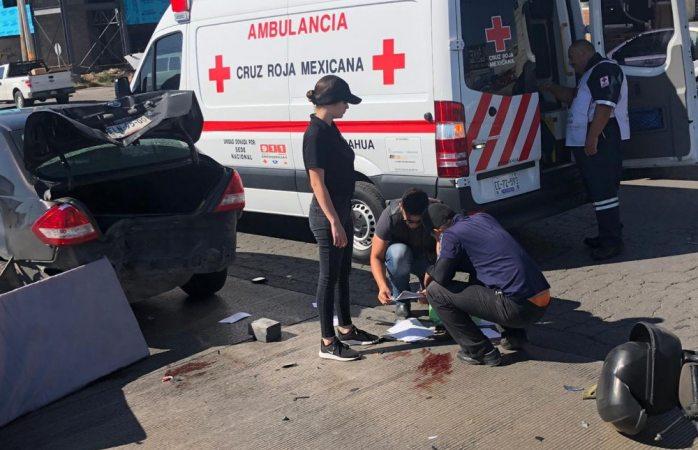 Muere motociclista que chocó en la homero