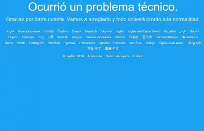 Falla a nivel global la red social de twitter