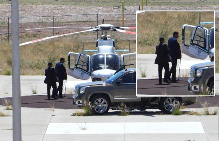 Captan a Corral utilizando aeronave para ir a evento en Cuauhtémoc