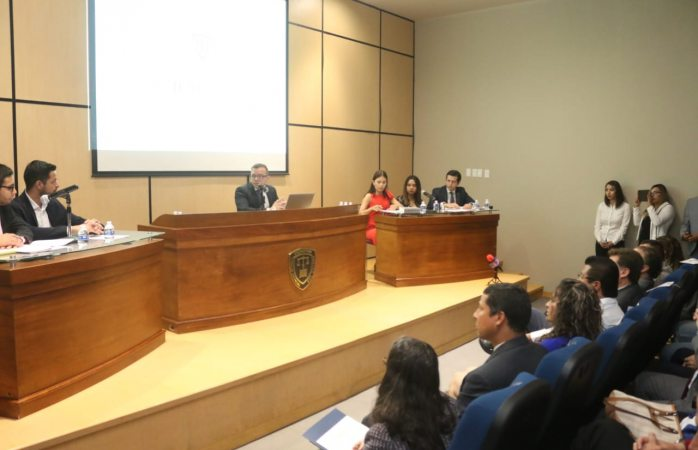 Presencia alcalde simulación de audiencia de violencia de género