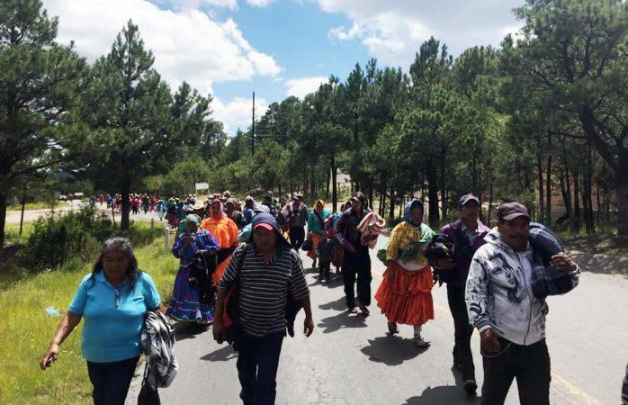 Inicia la marcha por el hambre de Creel a Chihuahua