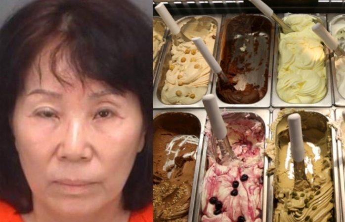 Mujer orina utensilios de helados y le escupe a los postres en nevería