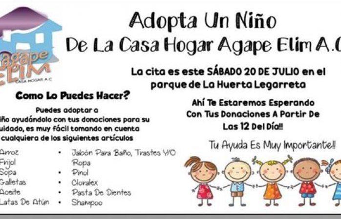 Piden apoyo para la casa hogar Agape Elim A.C.