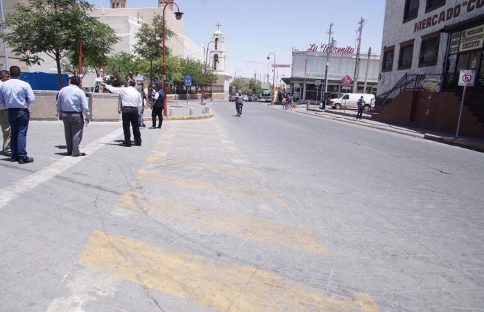 Cierran tramo por creación de cruces peatonales participativos