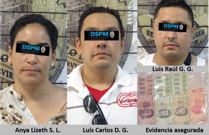 Detienen a tres presuntos estafadores