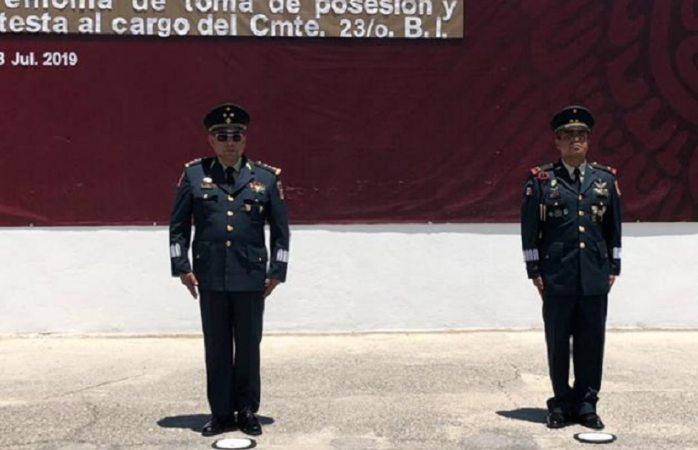 Toma posesión nuevo comandante del 23 batallón de infantería
