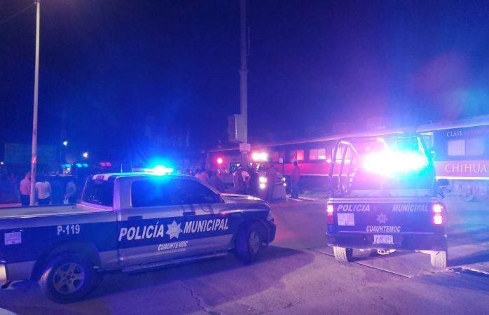 Muere al ser atropellado por tren en Cuauhtémoc