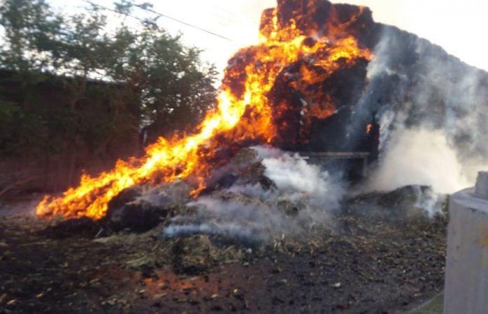 Se incendia tráiler con pastura en lombardo toledano