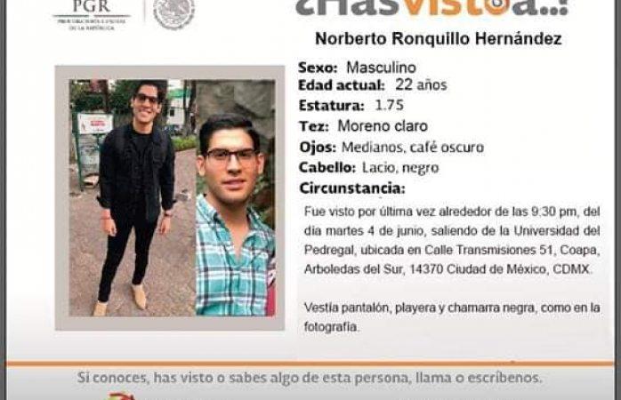 Va a Cdmx grupo antisecuestros por caso de Norberto Ronquillo