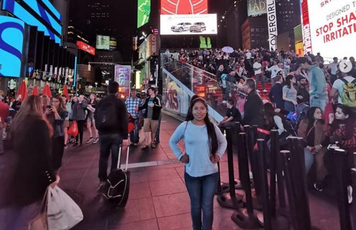 Yalitza vive en Nueva York donde estudiará idiomas