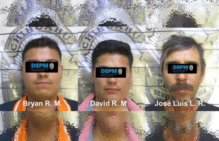 Consignan a tres agresores de policías