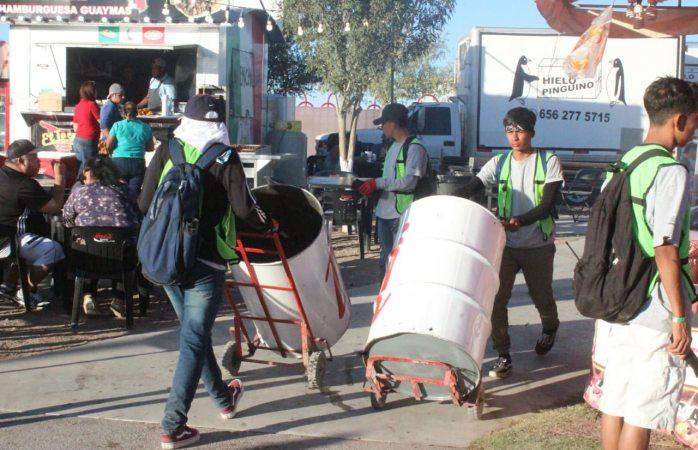 Hay operativo de limpieza permanente en Feria Juárez