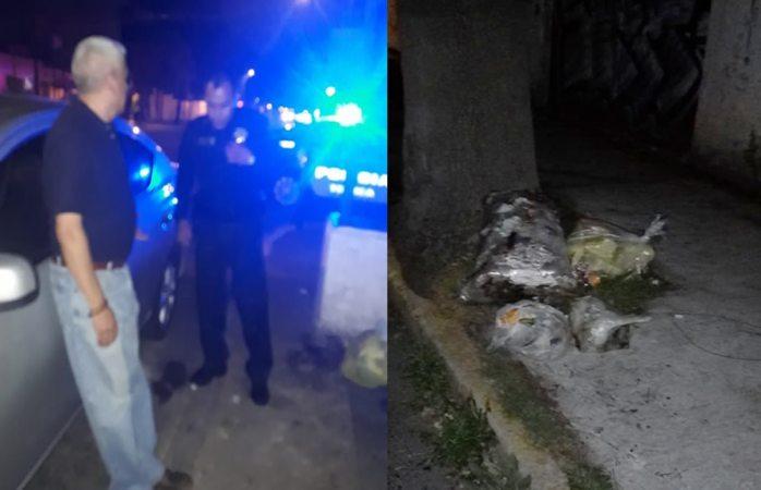 Tira basura en la calle, lo arrestan y multan en Toluca; pagará más de $8 mil pesos