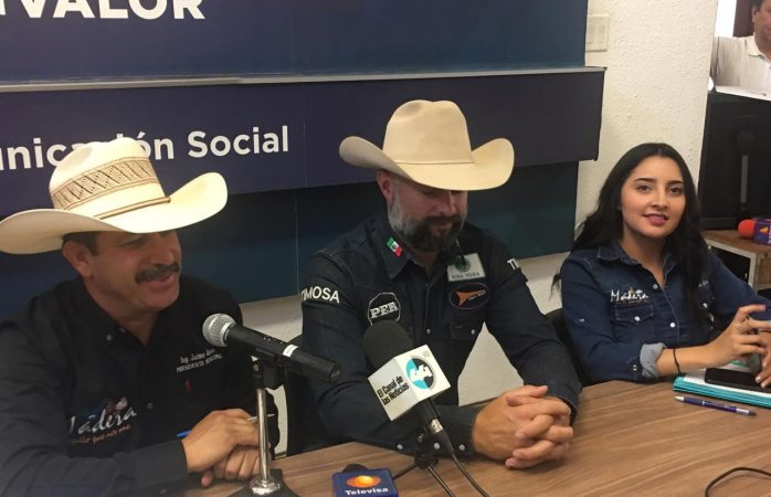 Invitan a torneo internacional de rodeo y fiestas patronales en Madera