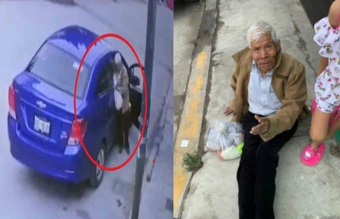 Abandonan a adulto mayor en calle de Puebla (VIDEO)