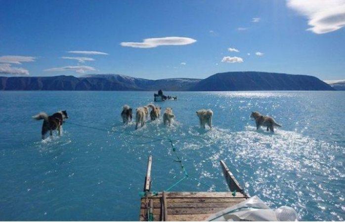 Exhiben deshielo en Groenlandia y causa alerta en el mundo