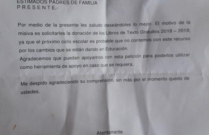 También el colegio gil esparza pide donación de libros