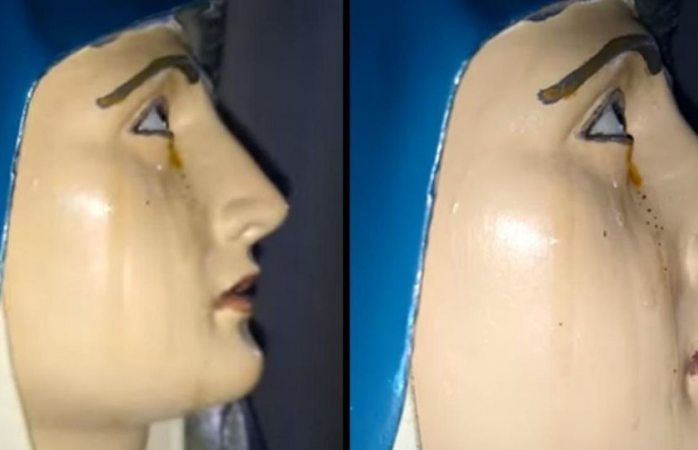 Captan llorando a la virgen de Dolores en Sonora (VIDEO)