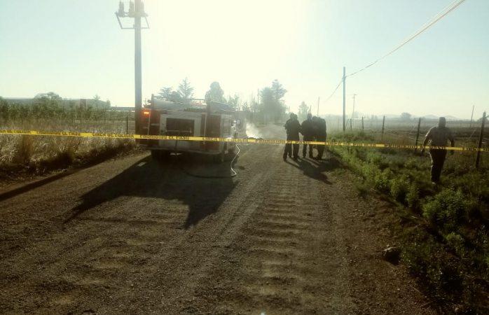 Encuentran cuerpo amarrado y calcinado en Cuauhtémoc