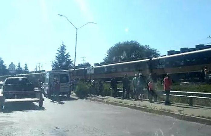 Muere en el hospital arrollado por el tren en Cuauhtémoc