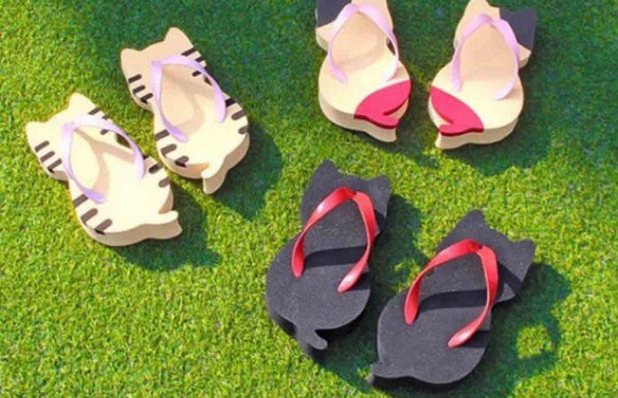 Lanzan huaraches con forma de gatito y se convierten en moda