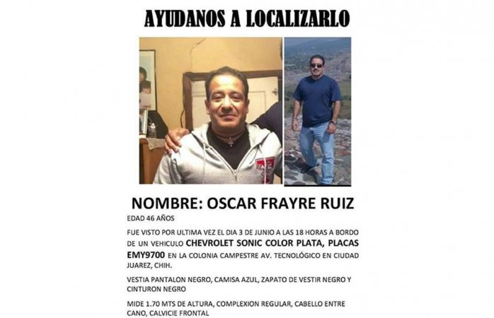 Buscan a uno que desapareció en Juárez