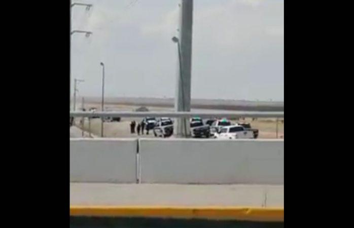 Balacera entre ministeriales y sicarios en el puente Zaragoza