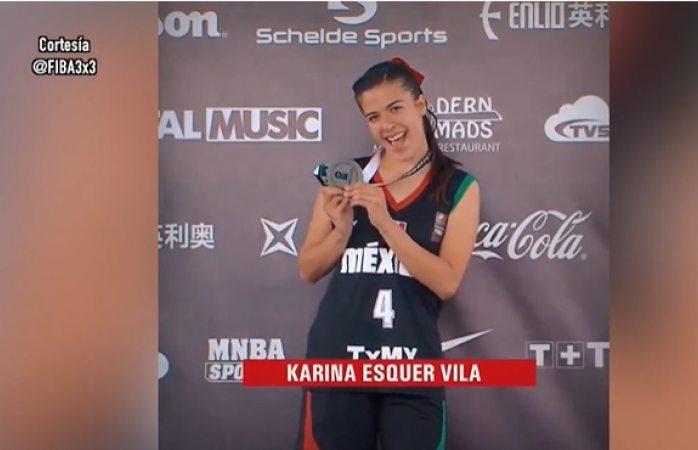Gana plata la sonorense Karina Esquer en el mundial fiba 3X3