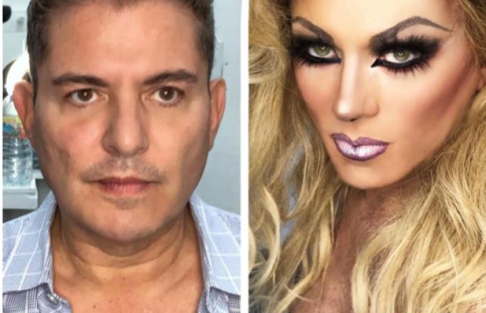 Así fue la transformación de Ernesto Laguardia a mujer