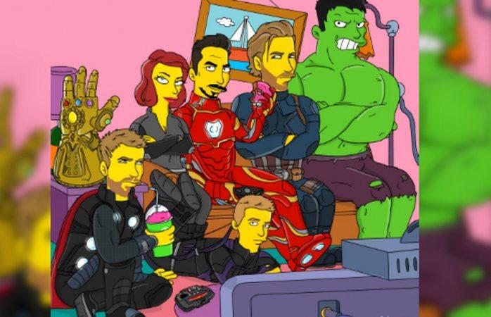 Transforman a los Avengers en personajes de Los Simpson
