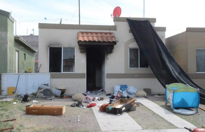 Niño incendia casa por accidente en Aquiles Serdán