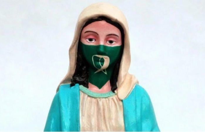 Indigna en Argentina escultura de la virgen María con pañuelo pro aborto