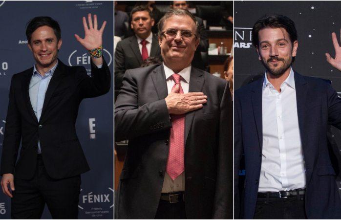 Gael García corrige error ortográfico de Marcelo Ebrard; le responde