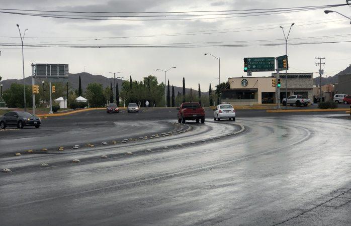 Cae ligera lluvia en parte de la ciudad
