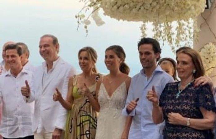 Captan a EPN en boda con Tania Ruiz